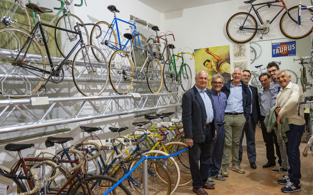 Francesco Moser in visita alla Collezione (29/07/2017)
